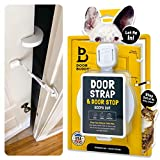 Door Buddy Door Latch Plus Door Stopper. Keep Dog Out of Litter Box and Prevent Door from Closing. This Cat Gate and Cat Door Alternative...