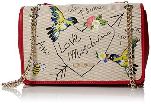 Love Moschino Moschino - Borse a spalla Donna, Beige (Natural Canvas), 8x20x39 cm (B x H T)