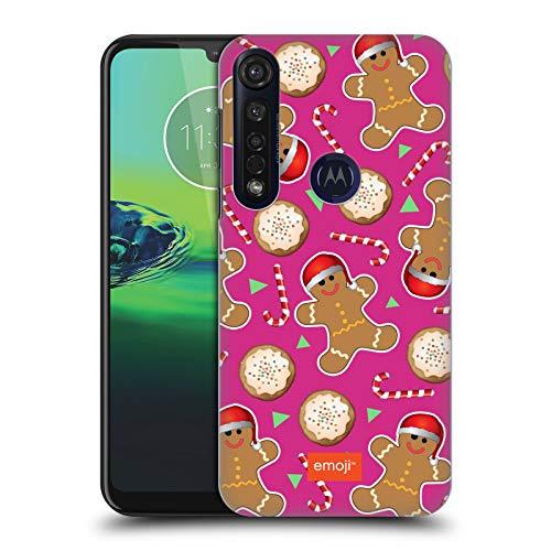 Officiële emoji® Peperkoek Koekjes Kerst Patronen Hard Back Case Compatibel voor Motorola Moto G8 Plus