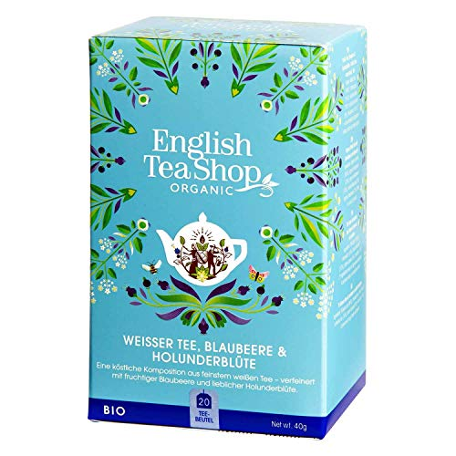 English Tea Shop - Weißer Tee, Blaubeere & Holunderblüte, BIO, 20 Teebeutel - (DE-Version)