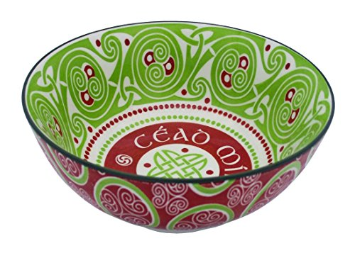 Irish Celtic Bowl With Cead Mile Failte Design 14cm
