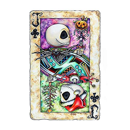 Adultos 5D DIY Pintura Diamantes full drill Rhinestone Kit Hombre esqueleto jugando a las cartas niños Diamond Painting Crystal bordado punto cruz artes manualidades para Casa Decoración -30x40cm E402