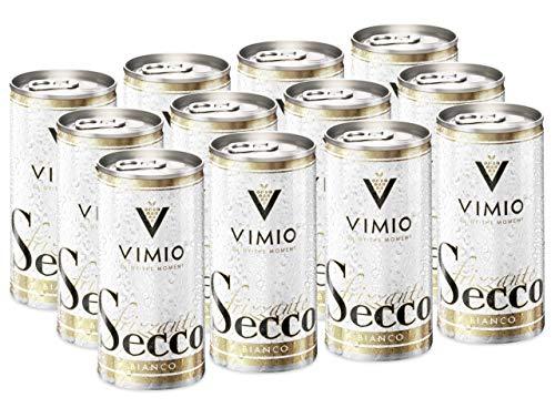 12 x Vimio Secco Frizzante Bianco Perlwein Weiß 10,5% vol. 200 ml Dose