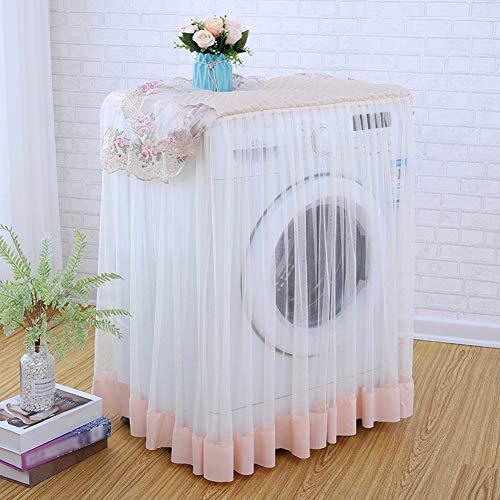 Cvian Bezug für Waschmaschine, Blumenmuster, staubdicht, mit Blumenmuster, 60 x 60 x 85 cm hellrosa