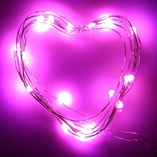 Dekorative Lichterkette Valentinstag 1 Meter Warmweiß Kupferdrahtschnur Lichterkette String 10Led Mini-Lichterketten Lichtervorhang Batteriebetrieben Beleuchtung FüR Party Garten Hochzeit