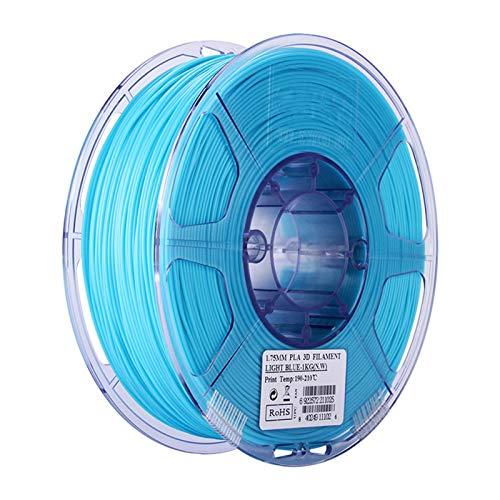 YANGDONG 1kg PLA 3D-Drucker-FDM-Verbrauchsmaterial, 1,75 Mm Transparent Und Mehrfarbig, Umweltfreundlich, Ungiftig, Niedriger Geruch (Color : PLA 1.75 Sky Blue 1kg)
