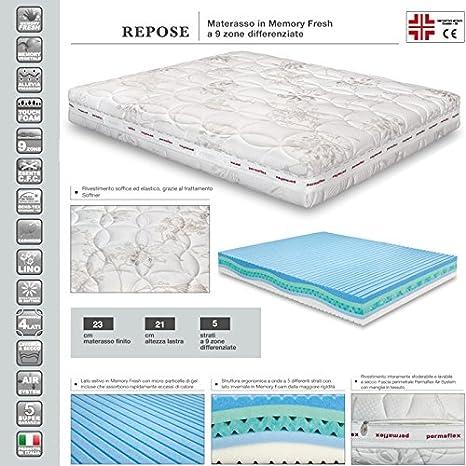 Permaflex Repose New 120 Materasso Memory Foam 5 Strati 120x190 Amazon It Casa E Cucina