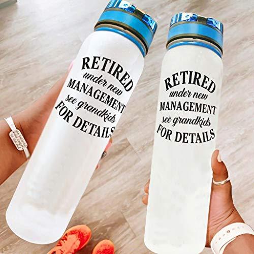 BBOOUAG Retirado bajo nueva gestión ver nietos para más detalles 32 oz deporte botella de agua lavavajillas seguro camping botella deporte botella ciclismo mejor regalo para amado blanco 1000ml