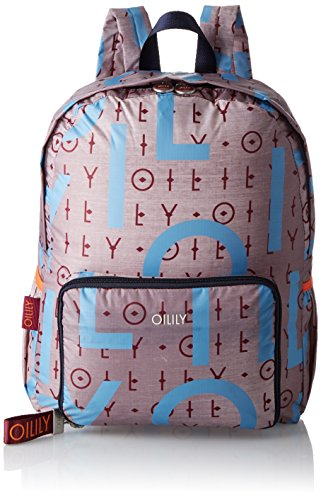 Oilily Damen Enjoy Backpack Lvz 4170000086 Rucksack, Grau (grey 800)