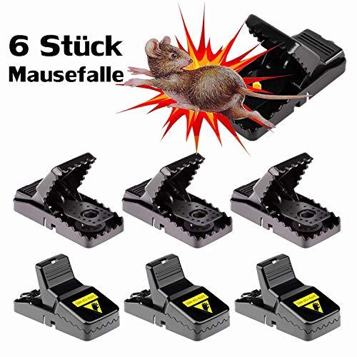workbees Mausefalle, 6 Stück Profi Mäusefalle | Wiederverwendbare Rattenfalle Köder Schlagfalle | Stark & Effektiv, einfaches Aufstellen | aus Kunststoff, für Haus und Garten