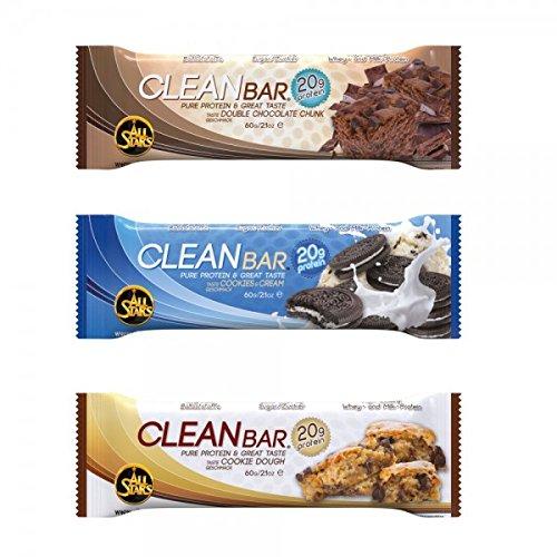All Stars Clean Bar Riegel (20 x 60g Kiste) BIG BOX, MIX BOX