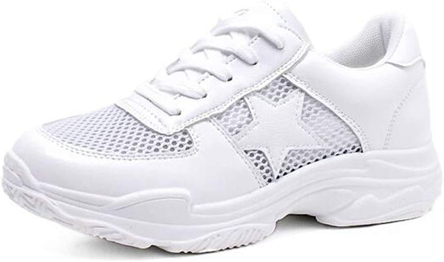 T-JULY New shoes Women White Casual Sneakers Tenis Feminino Sneakers Platform Wedge White shoes Air Mesh shoes