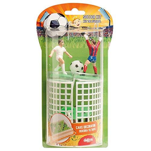 dekora 302018 Decoración para Tartas con Figuras de Futbol de Pv, PVC, Multicolor, 6x5x8 cm
