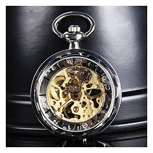 XGJJ Reloj de Bolsillo Moda Creativa y Reloj de Bolsillo para Mujer y Mujer clásico con Cadena Regalos de cumpleaños de graduación de Navidad, D