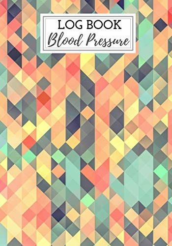 Blood Pressure logbook: Blood pressure journal, daily blood pressure log, 100 weeks of daily reading, note the date,  Time, Heart rate, blood ... rate, weight etc. Large size and large boxes.