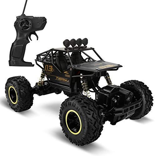 Molbory Ferngesteuertes Auto, 1:16 4WD RC Auto Funkfernsteuerung Elektro Geländewagen 2,4 GHz RC Ferngesteuertes Offroad-Fahrzeug Buggy Auto Spielzeug Geschenk für Kinder und Erwachsene