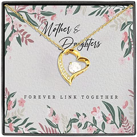 Mother and Award Dedication Daughters Forever Pendant Link Together Love