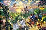 ZL Puzzles De 1000 Piezas para Adultos Niños Educativo Intelectual Descompresión Divertido Familia Jigsaw De Madera Regalo Decorativo Rompecabezas - Castillo De Fantasía