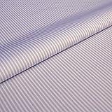 Hans-Textil-Shop Stoff Meterware Streifen 2 mm Flieder
