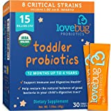 Lovebug Probiotic and Prebiotic for Kids, 15...