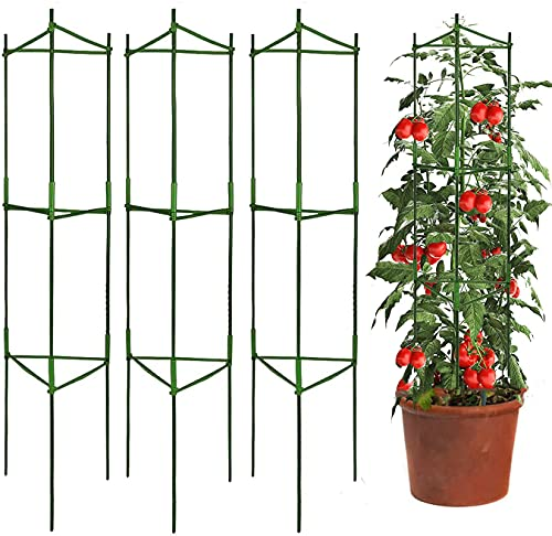 3 Packs Tomato Cages Plant Cages Deformable Up to 48inch Garden Tomato...