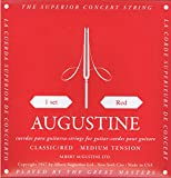 Augustine Klassik Gitarrensaiten Red Label Satz Regular Tension/Basssaiten Medium Tension...