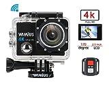 4k Action Cam Actioncam 1080P Wasserdichte Helmkamera Actionkamera Action Sport Kamera Wifi 16MP 2.0...