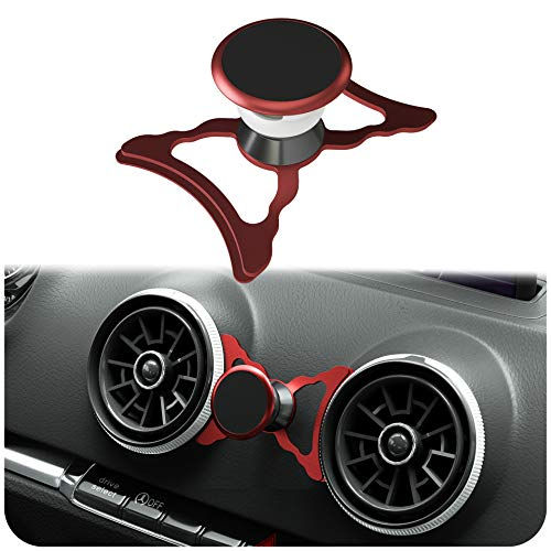 innoGadgets magnetische Handyhalterung kompatibel mit Audi A3/S3/RS3 | Universelle Halterung für Smartphone, GPS & Tablet | 360 verstellbar für optimale Sicht | Rot