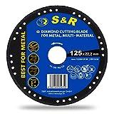 S&R Disco Diamantato 125 per Smerigliatrice. Taglio Legno Metallo Ferro Plastica. Mola da ...
