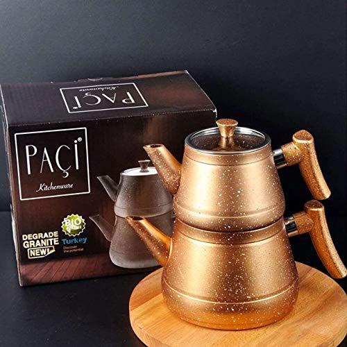gousheng Tetera de Granito Té Turco Calentador de Agua Tetera doméstica Té Caliente Filtro de té  