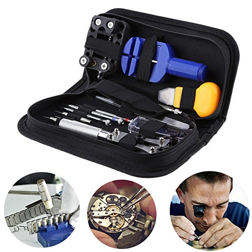 Complete Set Pocket Design Technician Repair Tools Self Fixing for Watches, Clock, Timepiece, Craft Kit etc. Inventor Hobby Accessories Equipment Idea Gift SRP1A4