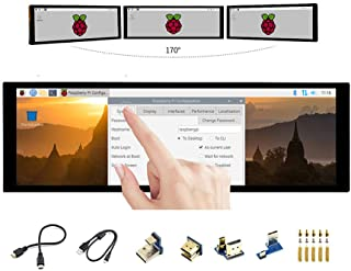 7.9 inch Raspberry Pi IPS Capacitive HDMI LCD 400×1280 Touch Screen Display Monitor Toughened Glass Panel Supports Raspber...