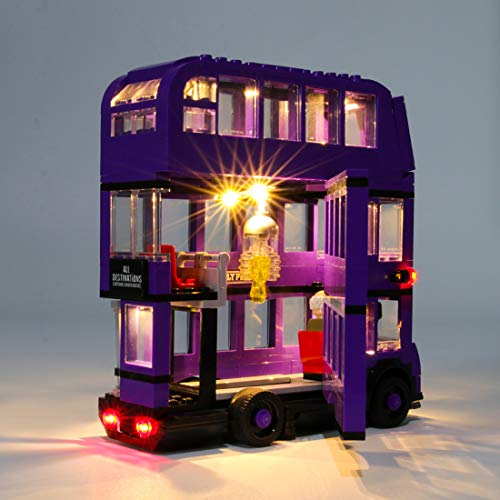 K9CK Juego de Luces para Knight Bus, Led Faro Kit de Iluminación Compatible con Lego Harry Potter 75957 (NO Incluido en el Modelo)