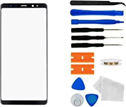 Black - Original Replacement Screen Repair Front Outer Top Glass Lens Cover for Samsung Galaxy Note 8 N950 6.3Inch Mobile Phone Curved Surface Parts (No AMOLED and Touch Digitizer)