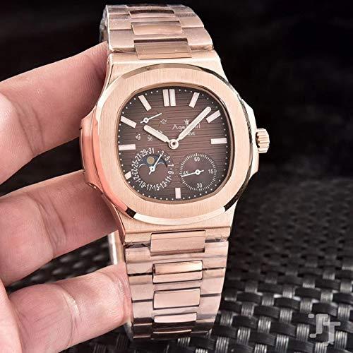 GFDSA Automatische horloges Luxe merk Automatisch mechanisch herenhorloge Saffier Rose Goud Zwart Blauw Groen Rood Maanfase Jumbo Sport Limited horloge