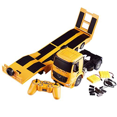 Ferngesteuertes Auto FüR Jungen Ab 6 Jahren - Ferngesteuerter LKW, Pritsche Auflieger Elektronik Hobby Kinder Spielzeug Gelb Engineering...