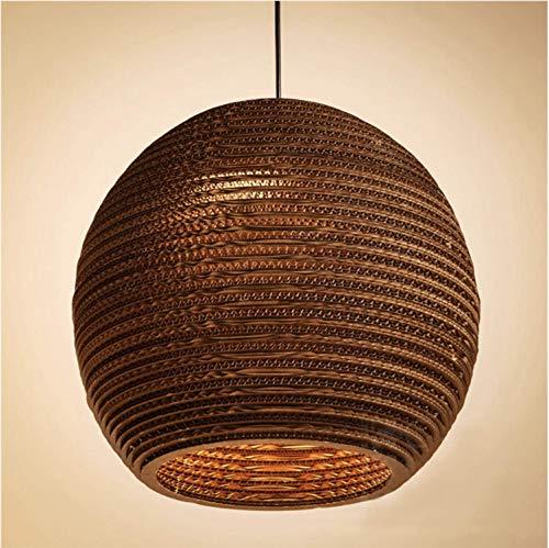 Lámpara de techo de papel corrugado Lámpara de techo de papel de nido de abeja de estilo sudeste asiático Lámpara de techo Lámpara de techo para Loft Restaurante Café Salón Dormitorio, E27