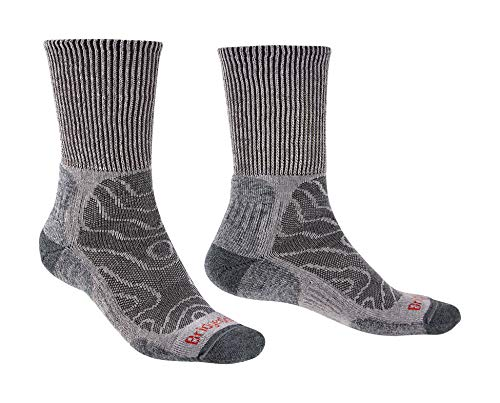 Bridgedale Men s Hike Lightweight Merino Endurance Boot Original Socks, Grey, size: L