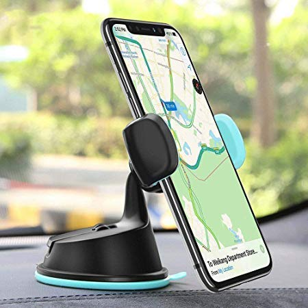 OAHU® Dual Purpose 360-Degree Rotating Car Mobile Phone Mount Holder Stand for Windscreen, Dashboard & AC Vent Compatible with All Mobiles Size Upto 6.0″ Inch