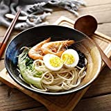 xxw Tazón de Fideos de cerámica de Estilo japonés Retro Tazón de Ensalada Tazón de Verduras Tazón de Sopa Grande Creative Home Restaurant Tazón de Ramen