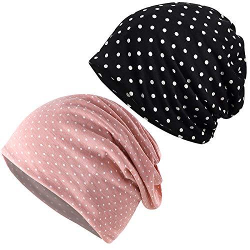 JarseHera Womens Slouchy Beanie Cotton Chemo Caps Cancer Headwear Hats Turban