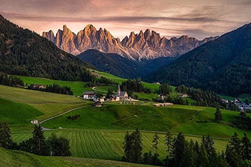 Dolomiti,Italia,Paesaggio,Natura Hi Sky Jigsaw Puzzle per Adulti Da 1000 Pezzi,Puzzle in Legno per il Gioco con la Famiglia Collezione Gioca Gioco Educativo,Arte della Parete,Arredamento Camera da le