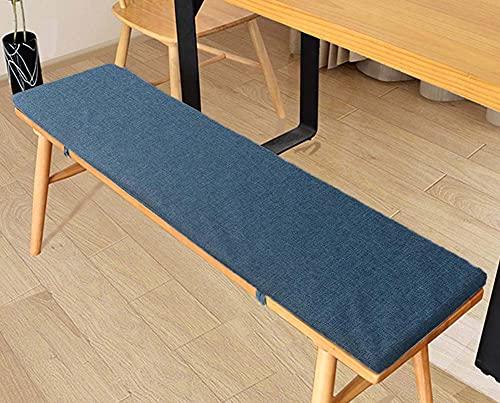 Bänk kudde uteplats trädgård lång bänk kudde 2 3-sits matsal uteplats träbänk stol matta 80/100/120/150 cm bekväm möbler soffa bänk sittdyna