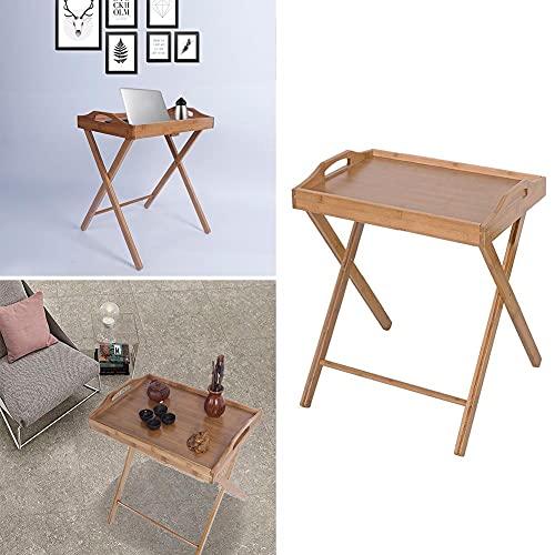 Tavolo da pranzo portatile in legno di bambù per la colazione e il cibo per tè