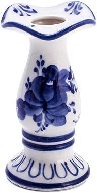 Candleholder. Blue and White Porcelain. Gzhel