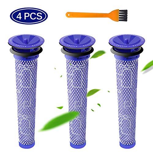SAFETYON Filter für Dyson DC58 DC59 DC61 DC62 V6 V7 V8, Ersatzfilter für Dyson Staubsauger Filter Ersatzteile für Dyson Vormotor Filter, Dyson Zubehör Filteraufsatz Set 4 Teilig