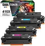Cool Toner 4 Pack Compatibile per HP 410X 410A CF410A CF410X CF411X CF412X CF413X per HP Color Laserjet Pro MFP M477 M477fdw M477fnw M477fdn M377dw M452dn M452nw M452dw LaserJet Pro M477fdw Stampante