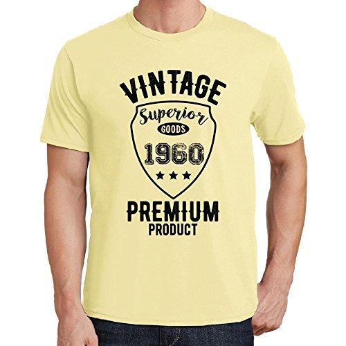 1960 Regalo di Compleanno 61 Anni Vintage Superior, Maglietta per Uomo, Maglietta Anni, Maglietta Gialla Uomo