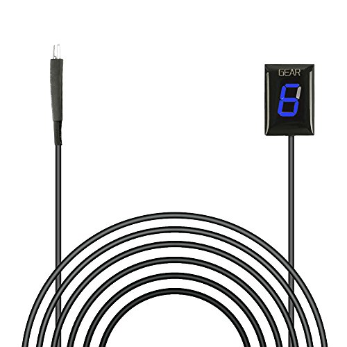 Idea Waterproof Motorcycle Gear Indicator Blue LED Display for Honda Plug & Play (Blue)