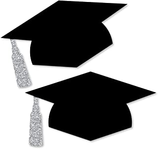 Big Dot of Happiness Tassel Worth The Hassle - Silver - Graduation Hat Decorations DIY Graduation Large Party Essentials - 20 Count